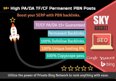Create 10+ High PA/DA TF/CF Homepage PBN Backlinks To Skyrocket you SERP