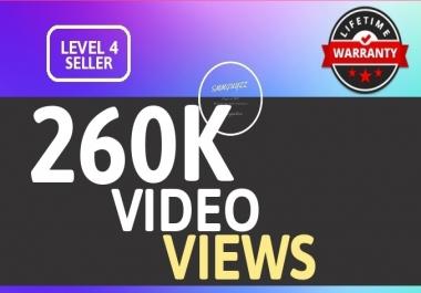 SUPER INSTANT 260K+ HQ WorldWide VIEWS FOR SOCIAL MEDIA POST