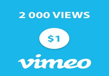 2 000 Vimeo High Retention