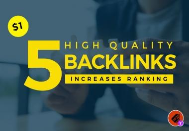 Build 5 high quality backlinks