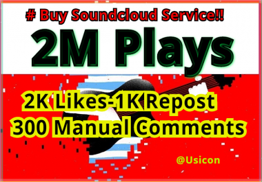Buy Music Promotional Services, Million of Soundcloud Plays and more