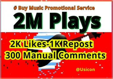 Buy Music Promotional Services, Million of Listeners