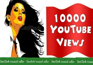 Guaranteed 10,000  Youtube Views+100 Likes free Non drop fast