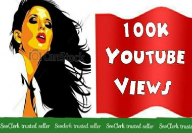 100K Or 1,00,000 Youtube Or 1 Lakh Vi ews 12/24 hrs  Non drop