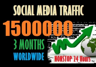 Drive 1500000 web traffic from Social Media and Search Engine to your site