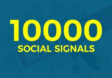 do 10000 Social signals with high pr backlinks