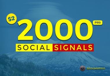 2000 Mixed Social Post Promotions and Signals Boost - Social Signals Backlinks