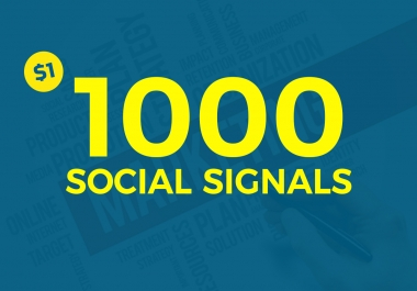 1000 Social Signals white hat seo backlinks to social field