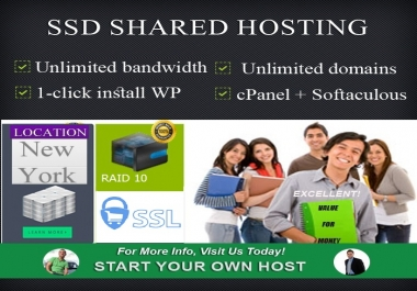 The US Fast Shared Hosting Server With Free Auto SSL