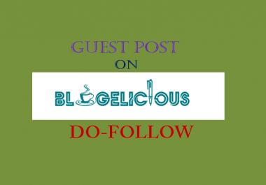 Publish Guest post on Blogelicious