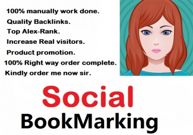 Manually Do 10 do-follow social bookmarking with ping your website