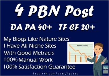 do 4 pbn post have 50+ Da PA and 30+ TF CF