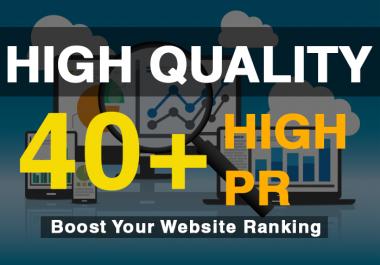 add 40 SEO Authority High pr Backlinks