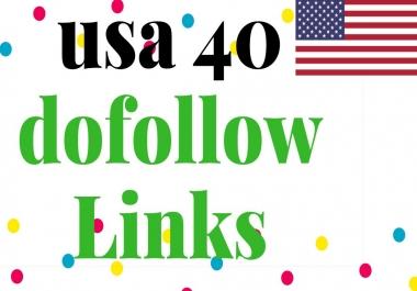 manually create 40 USA High Authority Dofolllow Backlinks