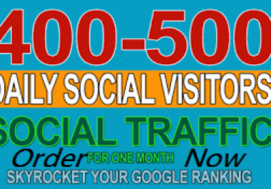 Send 500 Daily Social Targeted Traffic