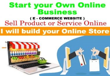 build your ecommerce website as online store for sell online