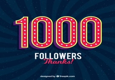 will Provide you Instantly start 1000 High Quality Social Media Fans or Followers on your profile