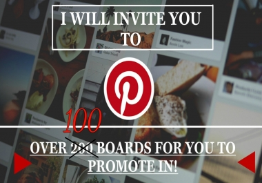 Invite You To 100 Pinterest Boards (Fashion/Home Decor/Tavel)