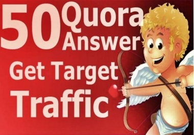 Give You organic visitor by 50 Quora answer backlink