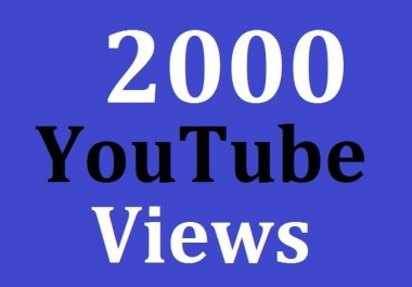 2000 High Quality Views Non Drop Guarantee Instant Start