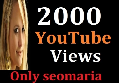 2000 Youtube Views + 100 likes Bonus 12/24 Hours In Complete