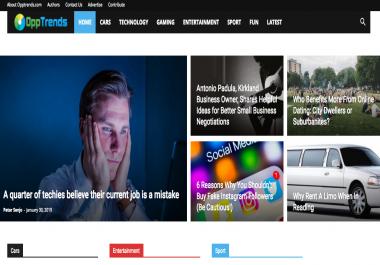 Premium Guest Post On Opptrends Da 57 General News Site