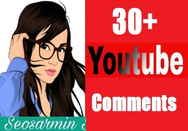 I will provide 20+ YouTube custom comments real and non drop  in your video link