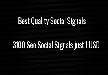 Provide you 3100 Seo Social Signal