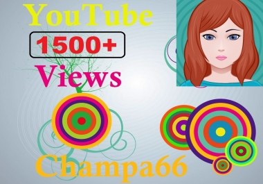 Real active YouTube 1500 views+150 subscriber+150 like safe and super fast