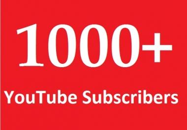 1000 NON-DROP YouTube Subscribers