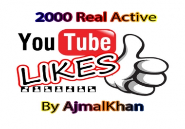 2000 Real Active Youtube Likes
