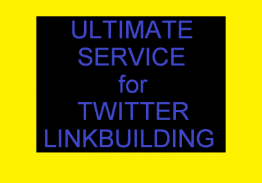 Ultimate Link Building from Twitter High PA Usernames