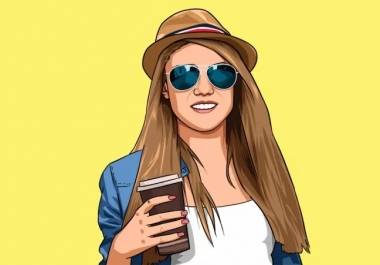 Draw Cartoon Portrait in your image.