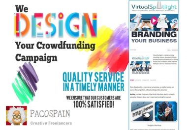 We design you a stunning fundraiser/crowdfunding page on any platform