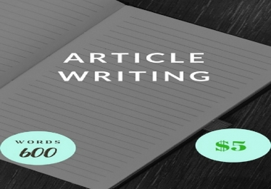 Write High Quality Unique Article In Any Niche 500words