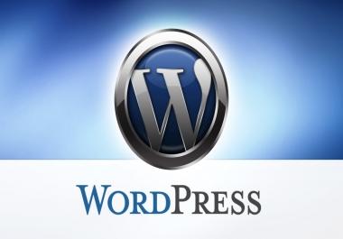 Create professional seo optimized wordpress website or blog for $15