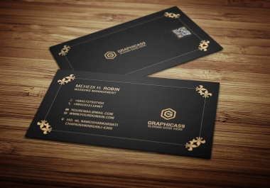 Eye catching double sided business card Design