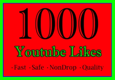1,000 Or 1K Or 1000 YouTube Likes with extra service 100 Or 500 Or 2000 Or 3000 Or 4000 Or 5000 Or 10K Or 20K Or 50K Or 100k  Youtube Video Like