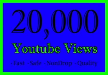 20,000 YouTube Views Or 20K Or 20000 Youtube Video View