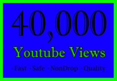 40,000 YouTube Views Or 40K Or 40000 Youtube Video Views with some likes