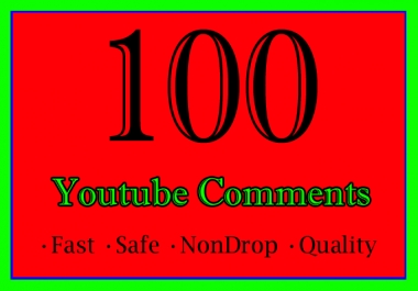 50 to 100 YouTube Comments Or 50 to 100 Youtube Video Custom Comments