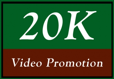 Video Promotion with High Quality 20000 Traffic Services