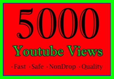 5,000 YouTube Views Or 5K Or 5000 Youtube Video Views
