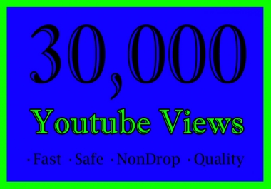 30,000 YouTube Views Or 30K Or 30000 Youtube Video Views