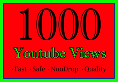 1000 YouTube Views Or 1K Or 1,000 Youtube Video View with extra 1000 or 2000 or 3000 or 4000 or 5000 youtube views