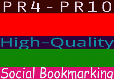 Provide You PR4-PR9 High-Quality 5 Social Bookmarking
