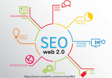 Do 20 Authority Web2 Blog  Manual SEO Backlinks