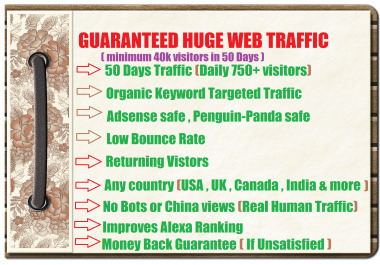 drive high quality traffic to your website or blog. so hurry up grab the offer.