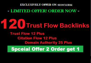 Do 120 High Trust Flow Citation Flow Dofollow Backlinks