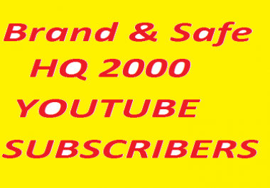 Instantly Start 2000+ High Quality Non-Drop You Tube Subs Cribers Fully Safe